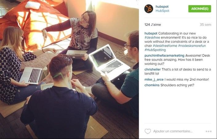 Instagram est utile pour humaniser le contenu