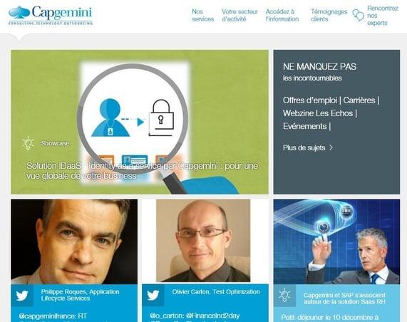 Valoriser les tweets des salariés en page d'accueil