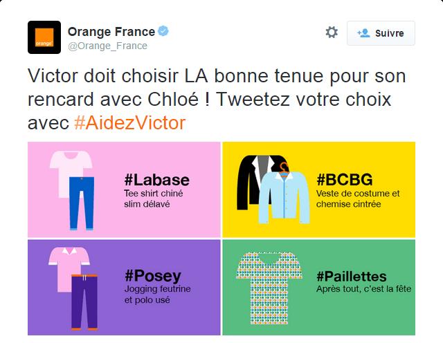 #AidezVictor la campagne interactive d'Orange