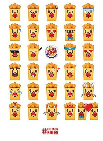 Burger King : l'enseigne propose aussi son application d'émojis