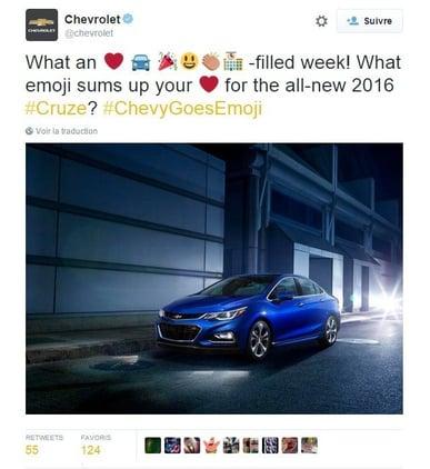 Stratégie digitale : comment Chevrolet se sert des émoticônes
