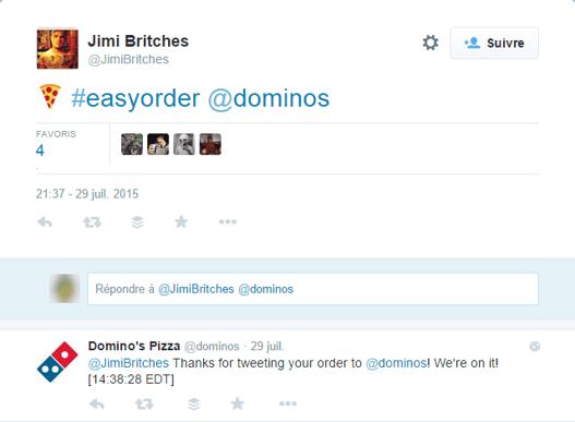 Domino's Pizza easy order