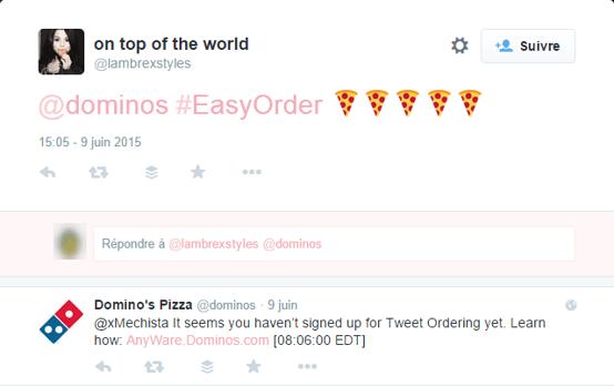 Domino's easyorder fail