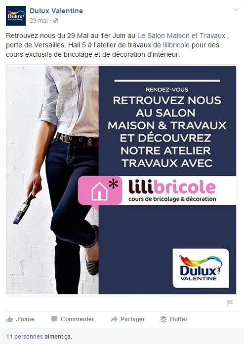 Dulux Valentine se sert de l'Inbound Marketing pour valoriser une action Outbound