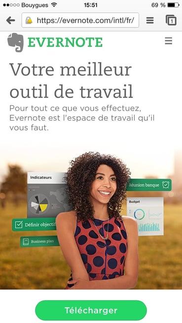 Une landing page optimisée pour mobile