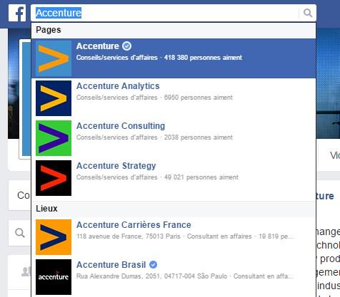 Accenture : une segmentation sur Facebook