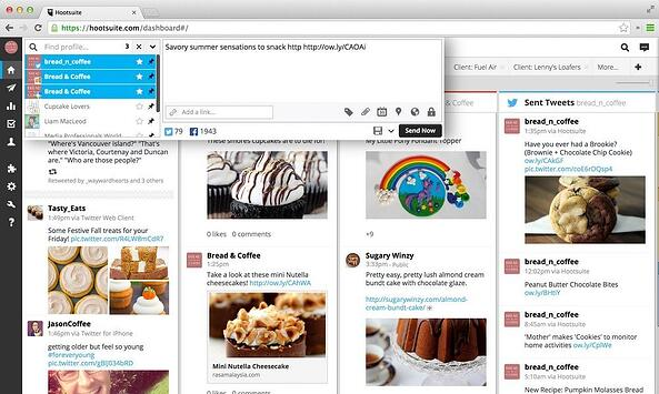 Hootsuite interface