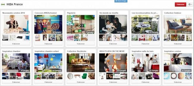 Ikea propose différentes rubriques, en lien avec ses produits et l'actualité
