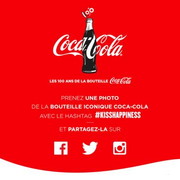 Campagne multicanale : Coca-Cola sur les réseaux sociaux #kisshappiness