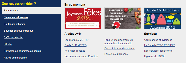 Metro : l'ecommerce proposer un tunnel par buyer persona