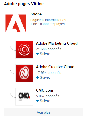 Page Linkedin : décliner sa page en pages Vitrine