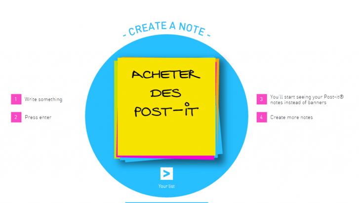 Post-It : une opération digitale innovante pour remplacer les bannières web