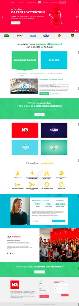 MinuteBuzz website