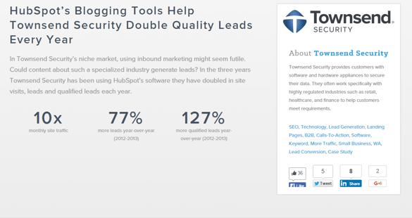 Inbound Marketing : Townsend utilise l'outil Hubspot pour accroître son taux de conversion