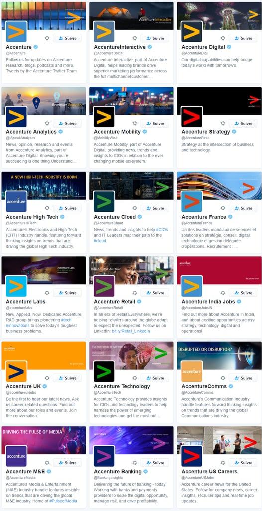 Accenture : une segmentation sur Twitter