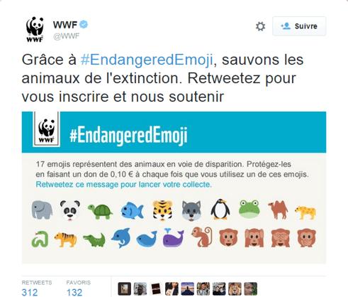 WWF : inciter à l'action grâce à une émoticône