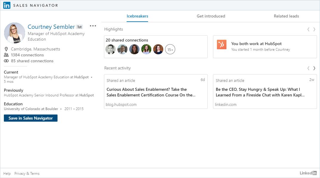 LinkedIn Sales Navigator Hubspot-1