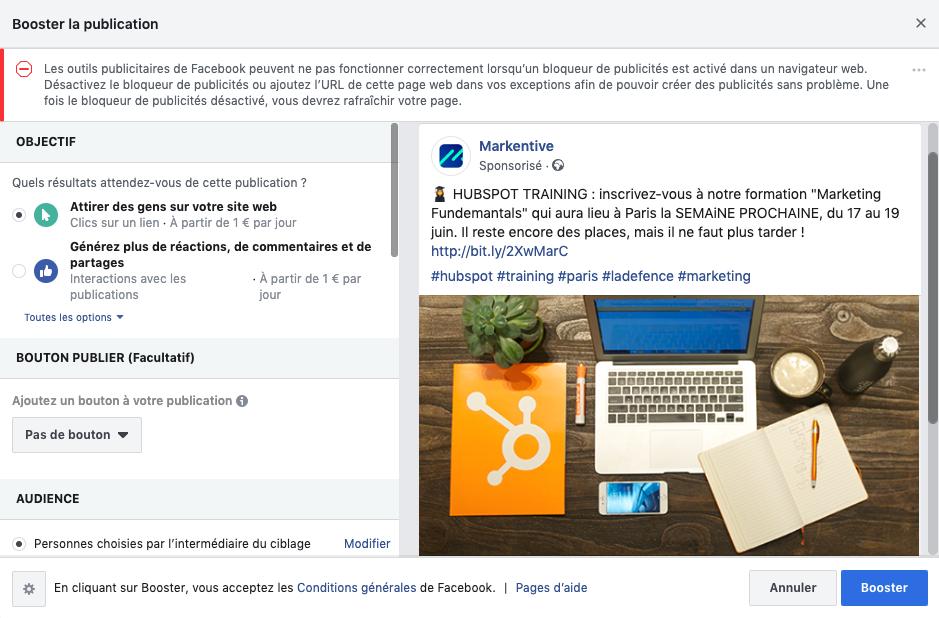 Booster ses publications Facebook avec les publicités payantes
