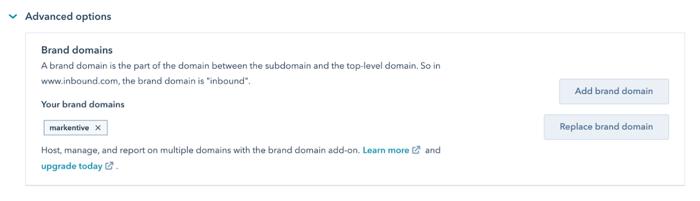 brand domain hubspot cms