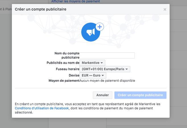 facebook-comment-parametrer-compte-publicitaire-création